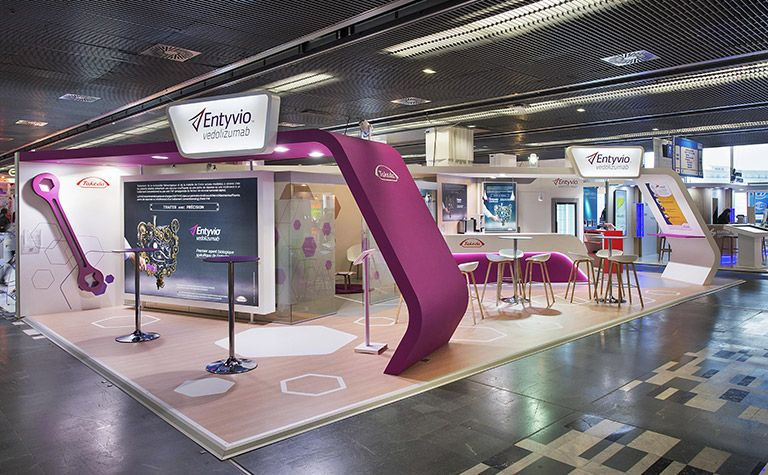 Cosmetic Exhibition Stand Design : Création du stand takeda jfhod fair stands booth design stand