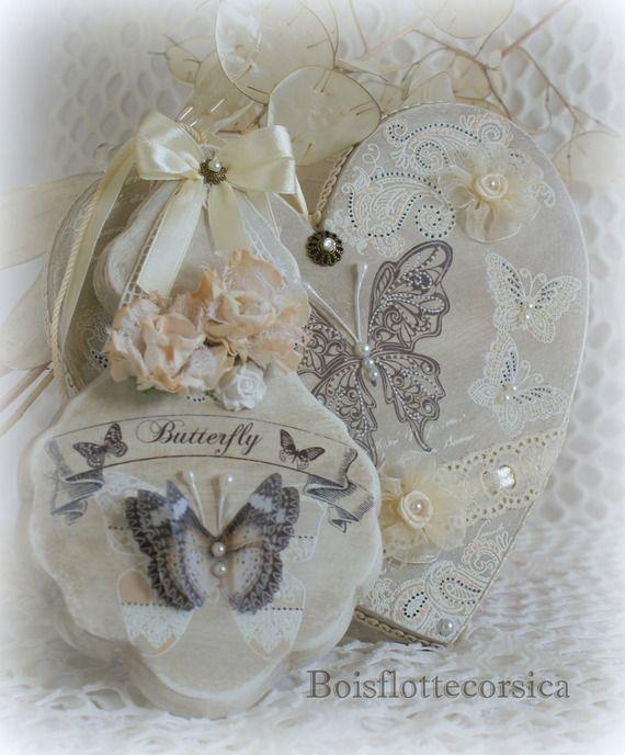 2 d corations papillon coeur et pampille bois patin chantournage chantournage par. Black Bedroom Furniture Sets. Home Design Ideas