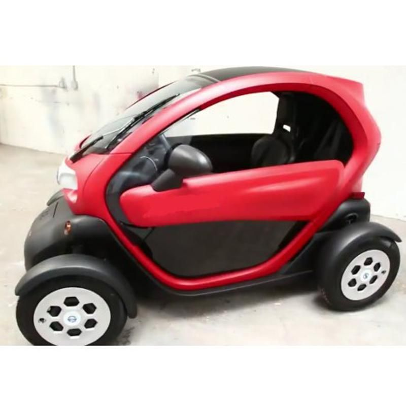 The Small All Electric Scoot Will Seat Two People Have A Range Of Roughly 40 Miles And A Top Speed Of 25 Mph The Small Electric Cars Mini Cars Electric Car