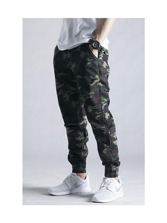 c6eae4258d1 OCHENTA Men s Regular Fit Camouflage Chino Jogger Cargo Pant at Amazon  Men s Clothing store