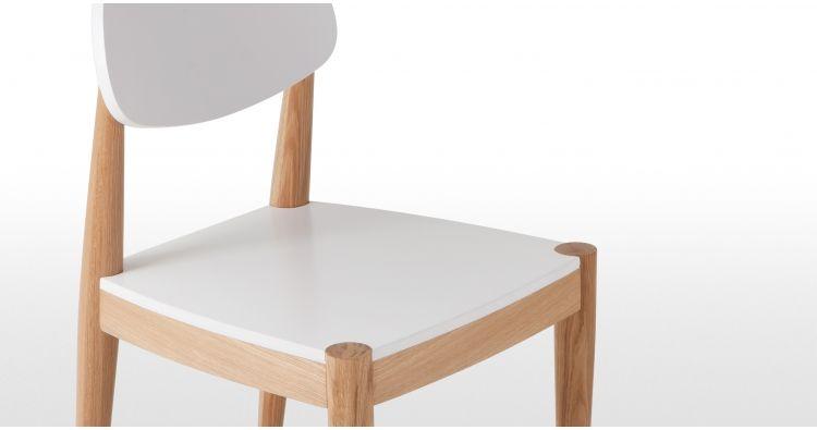 Joseph Deux Chaises En Chene Et Blanc Chaise Design En Bois