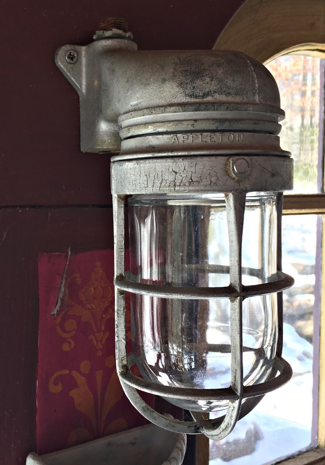 Vintage appleton explosion proof cage light industrial steampunk vintage appleton explosion proof cage light industrial steampunk arubaitofo Gallery