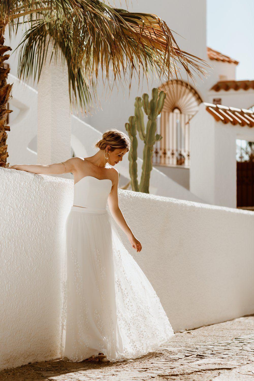 Abnehmbarer Braut Uberrock Mit 3d Blatter Tull Lillith Brautkleid Braut Hochzeitskleid