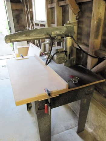 Building A Mr Sawdust Table For A Dewalt Radial Arm Saw Radial Arm Saw Pinterest