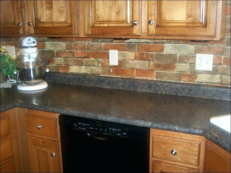 Sticky Backsplash Tiles Veneer Cost Stone Kitchen Peel And ...