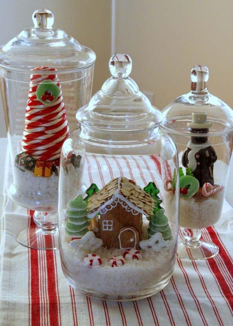 geschenke aus der k che winterlandschaft aus s igkeiten christmas table decorations. Black Bedroom Furniture Sets. Home Design Ideas