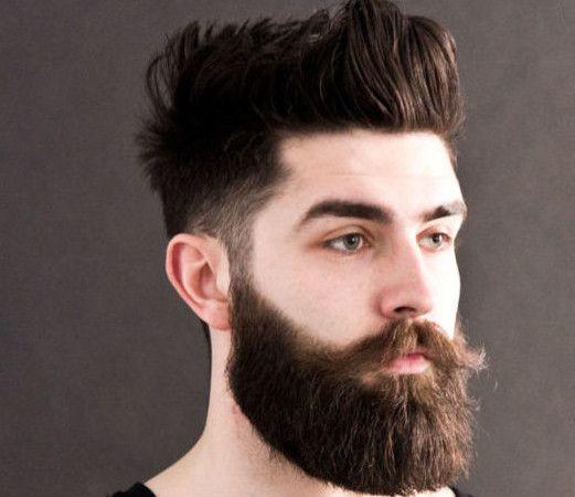 Long Beard With Short Hair Style
