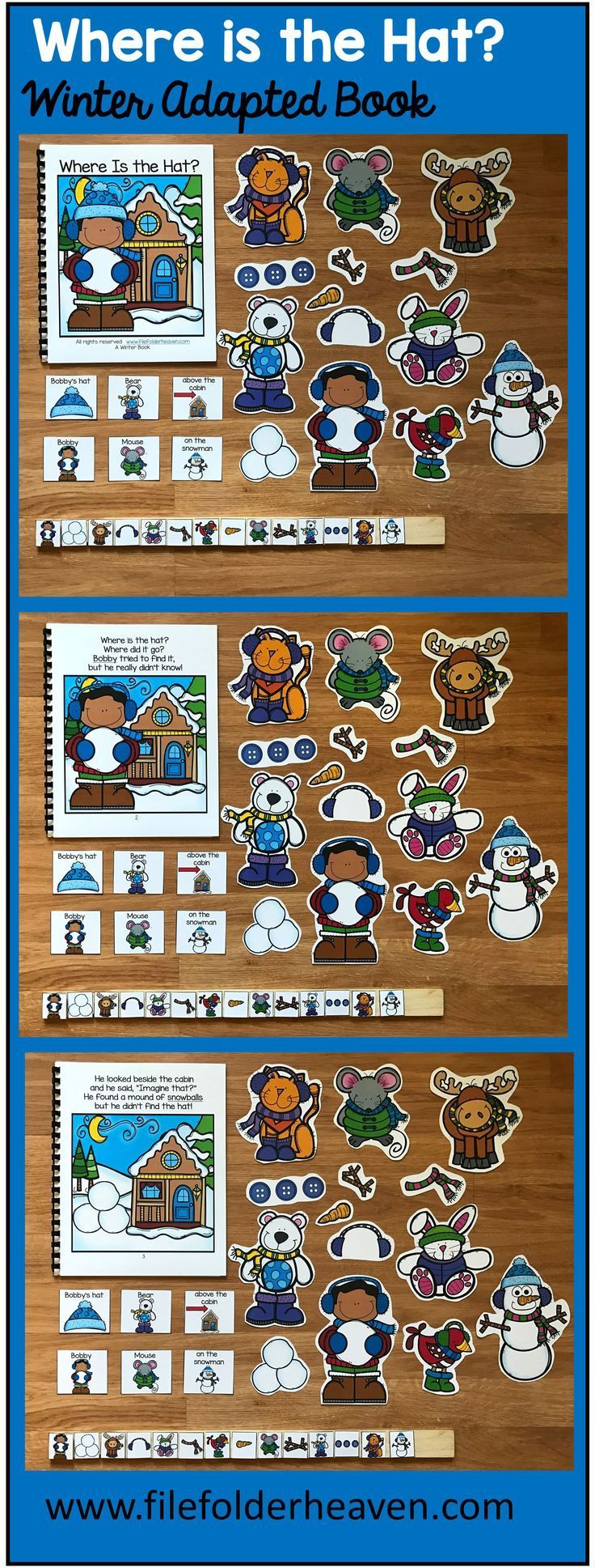 This Winter Adapted Book Where Is The Hat Is Fun And Interactive Winter Themed Adapted Boo Adapted Books Winter Theme Preschool Christmas Interactive Book