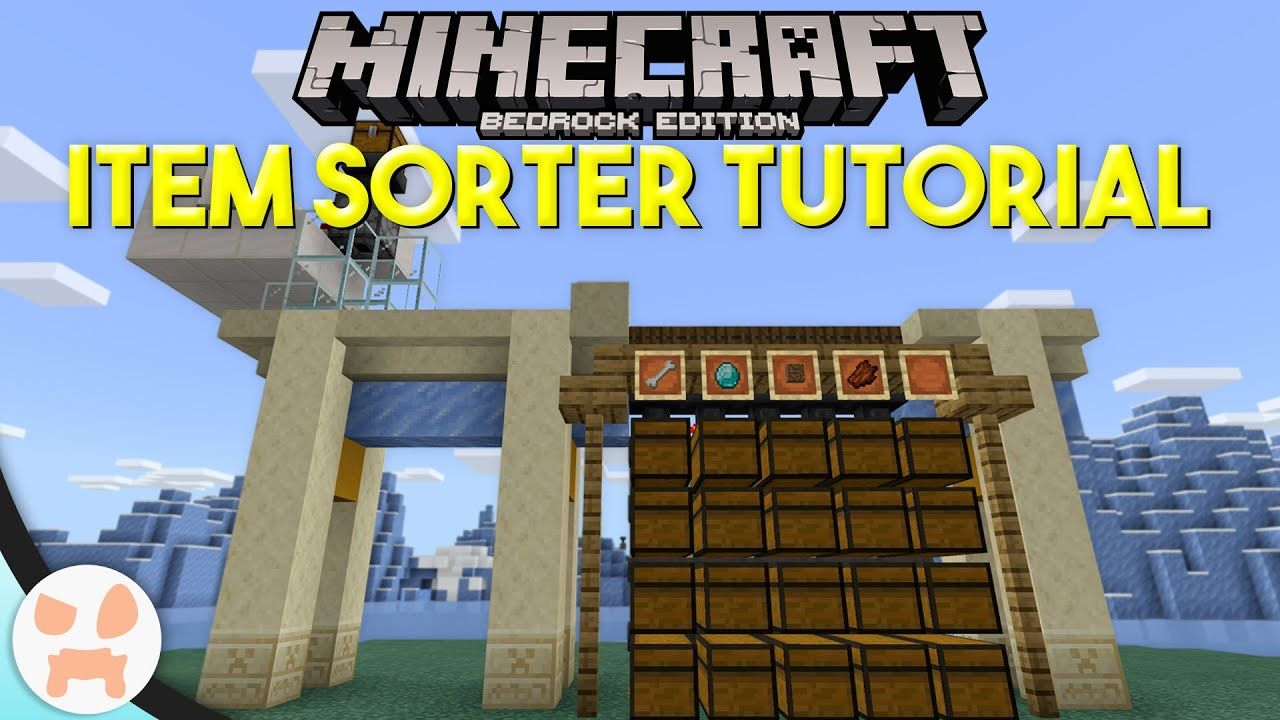 How To Make Pixel Art In Minecraft Bedrock Minecraft Bedrock Item Sorter Tutorial Easy Automatic Expandable In 2020 Minecraft Building Guide Minecraft Minecraft Redstone Tutorial