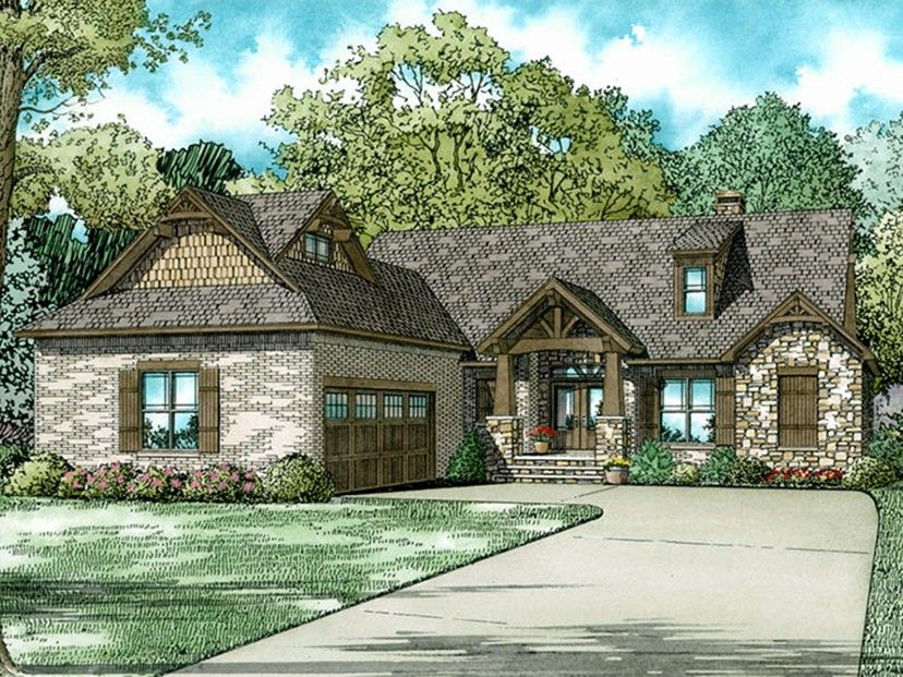 European Style House Plan 3 Beds 2 5 Baths 2091 Sq Ft Plan 17 3403 Craftsman House Plans Architectural Design House Plans European House Plans