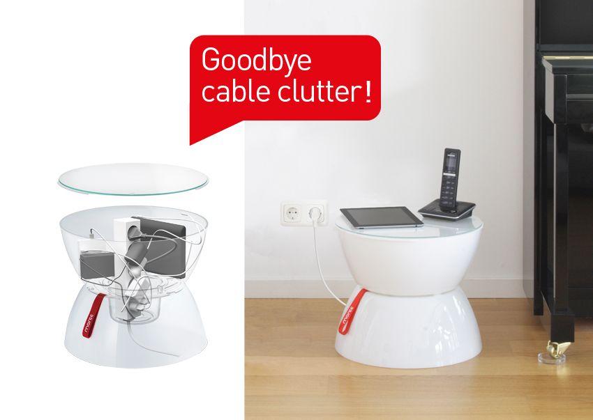 #idee Möbel Flur, #Beistelltisch Für Telefon Und IPad #Kabel Aufbewahrung  Weiss Perfekten