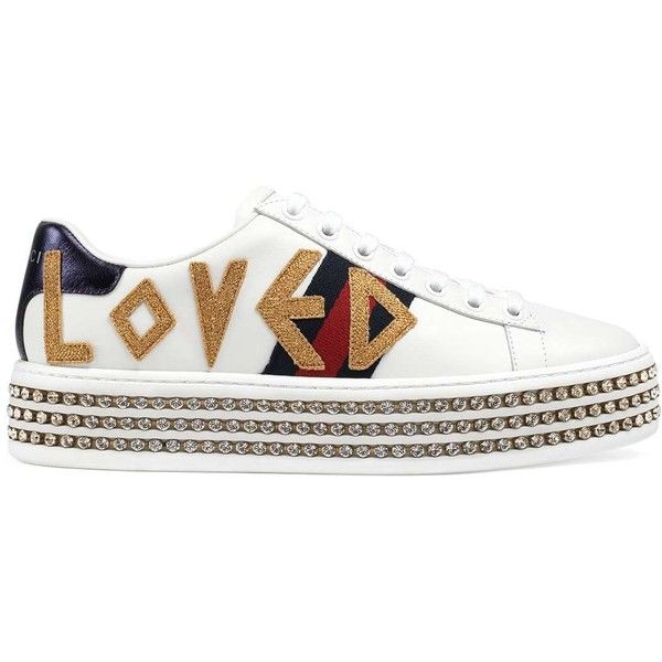 597f76cc65e7 Gucci Women s New Ace Leather Platform Sneakers ( 1