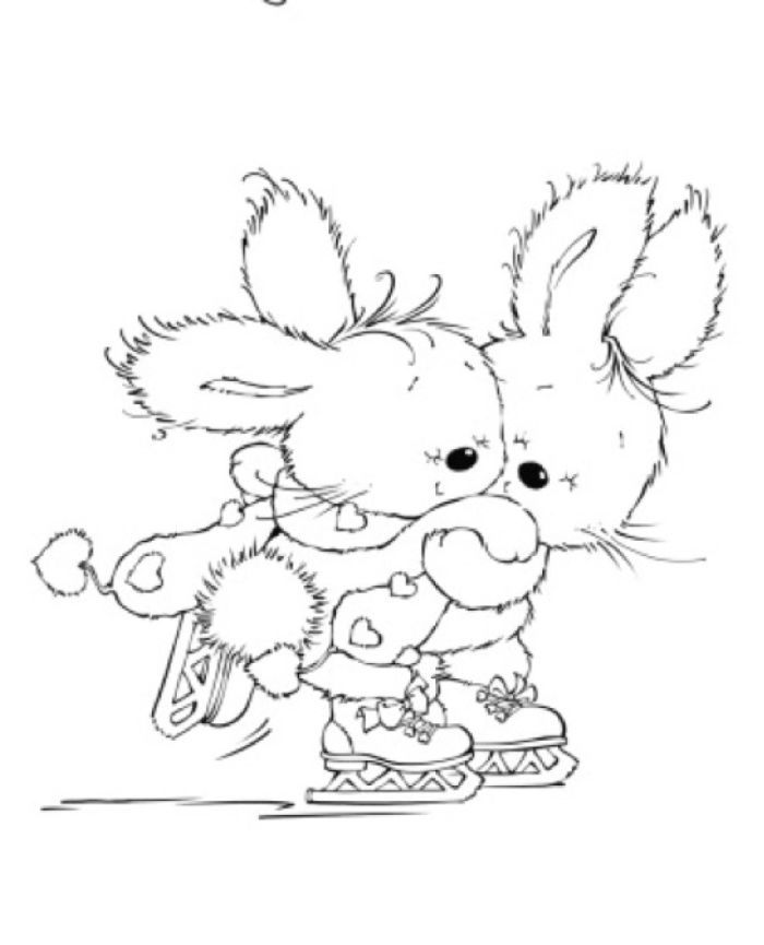 Rabbits Jpg Marina Fedotova Representing Leading Artists Who Produce Children S And Decorative Work To Comm Digital Stamps Cute Coloring Pages Coloring Pages