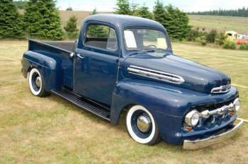 1951 Ford F1 Navy Blue Classic Ford Trucks Ford Pickup