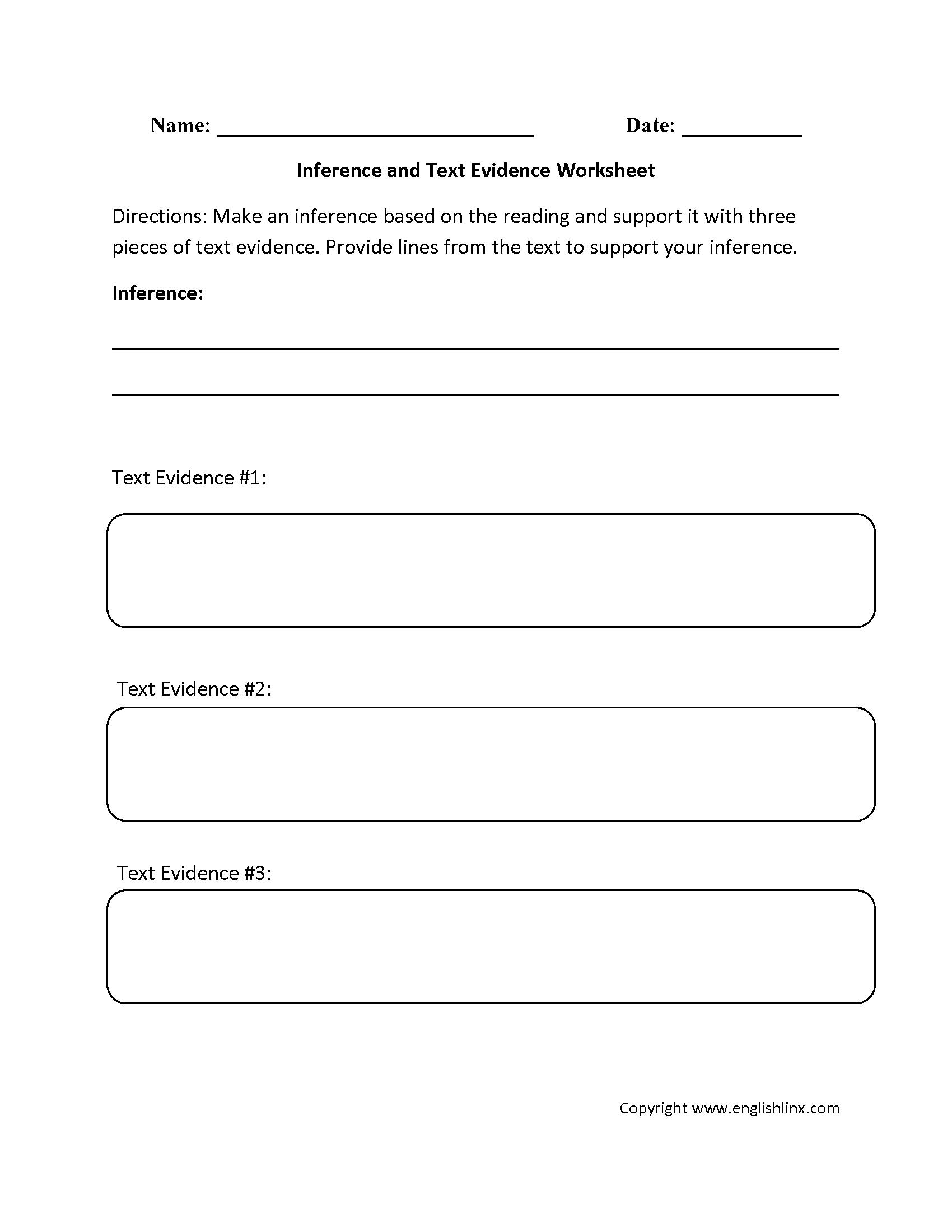 Worksheets Inference Worksheets Middle School inference text evidence worksheets lit lessons pinterest worksheets