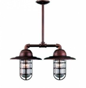 Rustic Copper Chandelier For Modern Shaker Bathroom Barn Light - Copper bathroom light fixtures