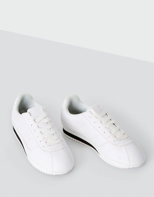 Street Sneakers Shoes New Woman Pull Amp Bear Armenia Shoes Sneakers White Trainers