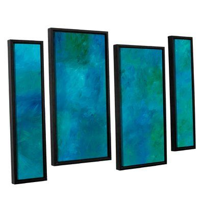 """Latitude Run 'Blue Currents' Painting Print Multi-Piece Image on Canvas Size: 36"""" H x 54"""" W x 2"""" D"""