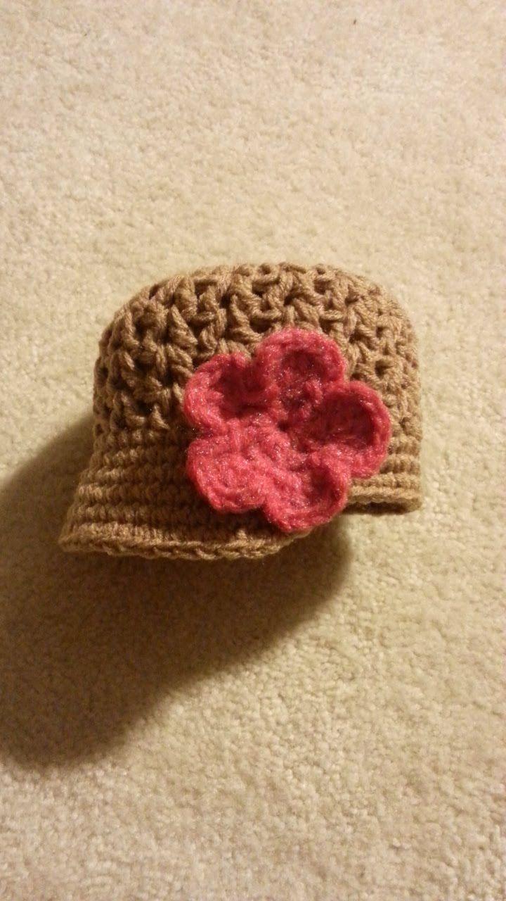 Crochet Super Cute Baby Newsboy Hat #TUTORIAL Crochet hat https ...
