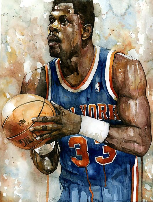Patrick Ewing by Michael Pattison, Sports Artist