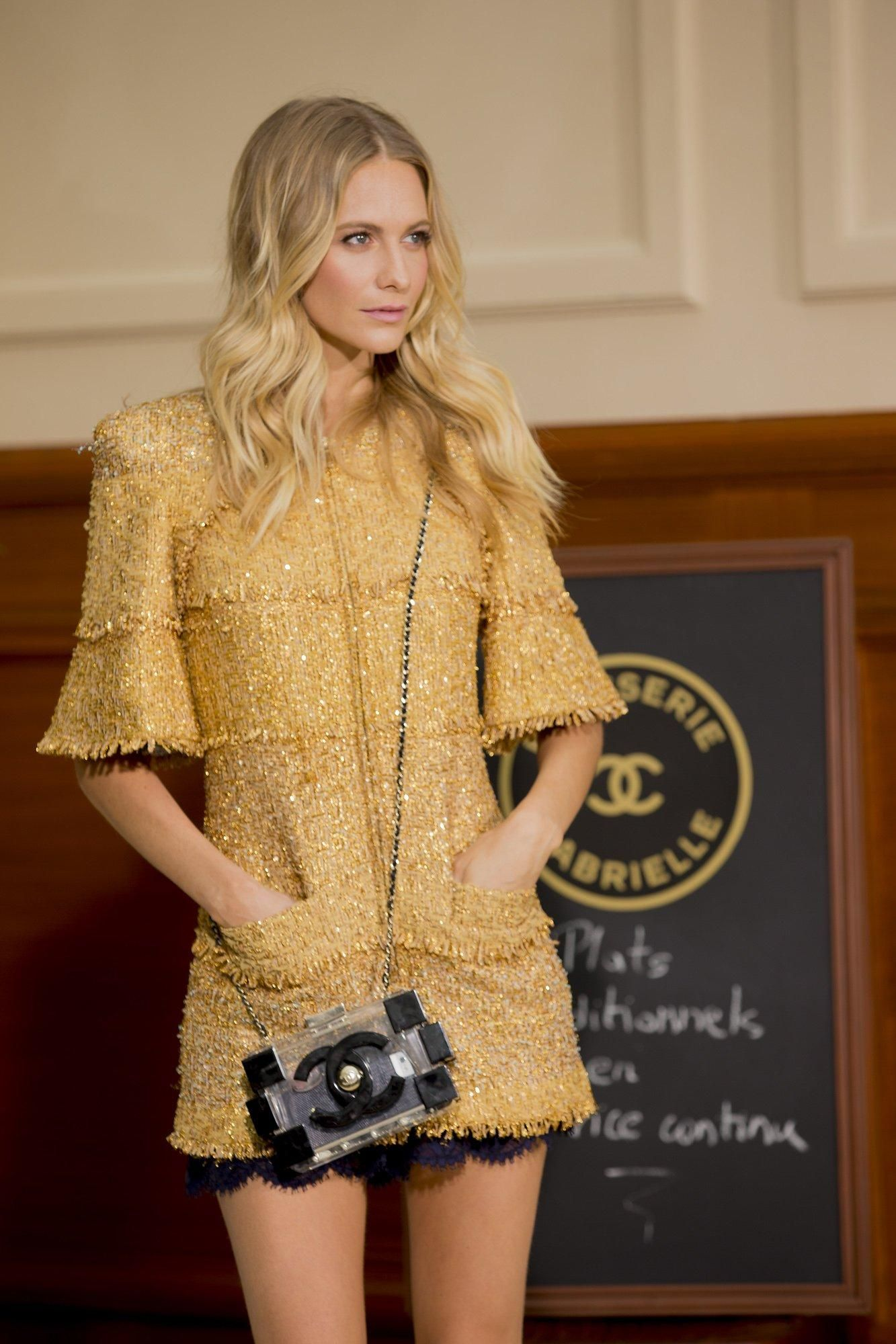 7cefea9aa Golden girl Poppy Delevingne backstage at Chanel