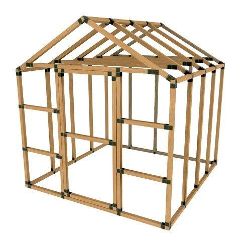 8X8 E-Z Frame Basic Storage Shed Kit | SHEDS | Pinterest | Storage ...
