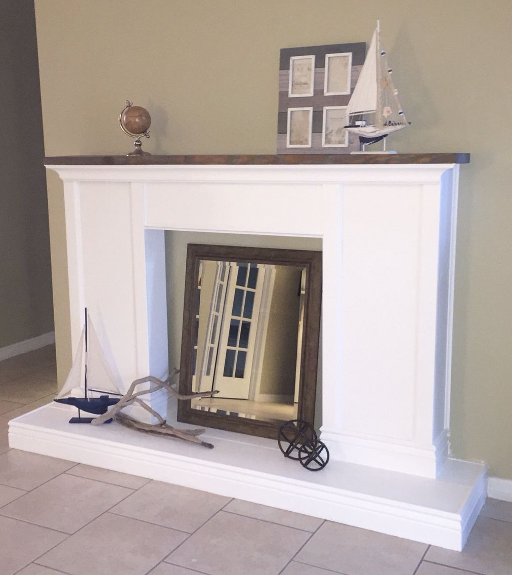 Diy Faux Fireplace Faux Fireplace Home Decor Entryway Tables