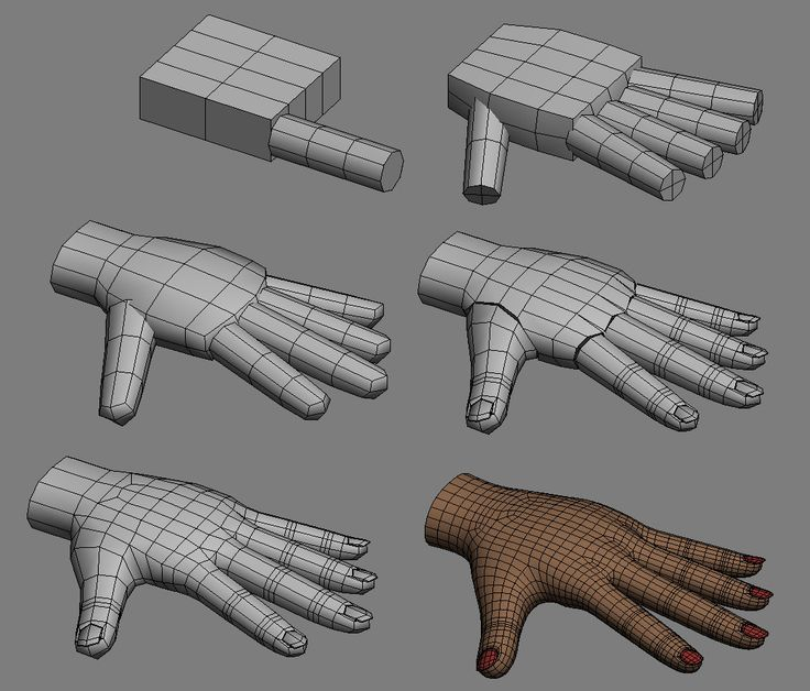 Image result for 3d hand inflatable Character modeling