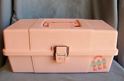 Vintage 80 S Peach Caboodles Of California Retro Makeup Train Case