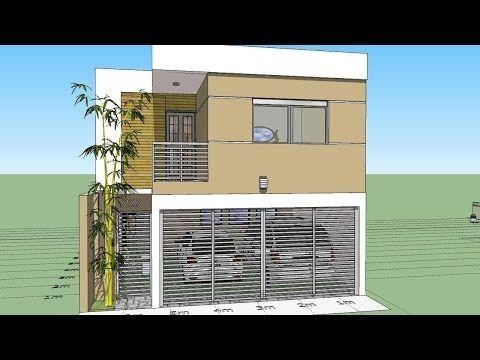 Como Disenar Una Casa De 7x15 Mts De Terreno Planos De Construccion De Vivienda Disenos De Casas Casas