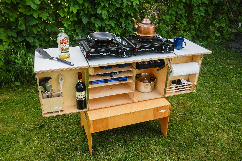 Camping Sommerküche : Camp kitchen willi wood camping campingküche