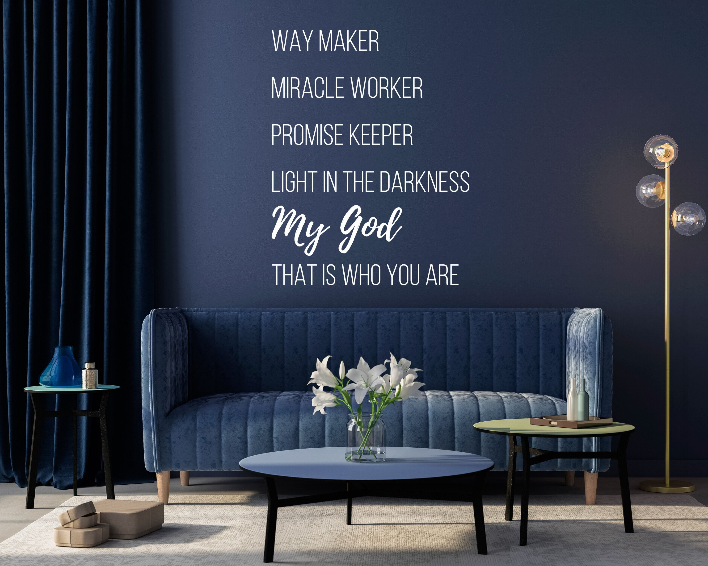 Way Maker Miracle Worker Promise Keeper Light In The Darkness Lyrics Vinyl Wall Decal Stylish Home Decor Vinyl Wall Decals Promise Keepers