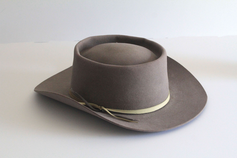 70 S Vintage Grey Stetson Gambler Cowboy Hat By Danhalenvintage On Etsy Https Www Etsy Com Transaction 1469778815 Cowboy Hat Styles Cowboy Hats Hats For Men