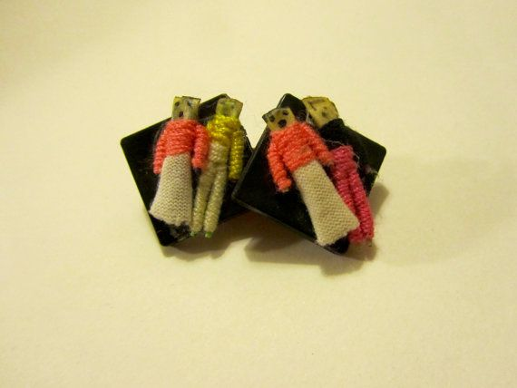 Vintage 90's Worry Doll Earrings by ecclectionshop on Etsy, $6.00
