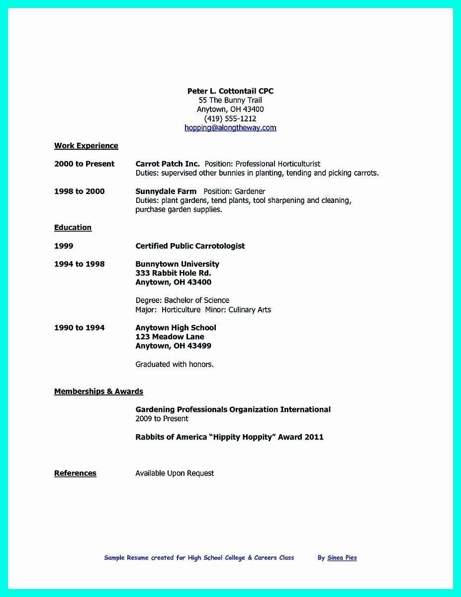 40 Resume Samples For College Student In 2020 High School Resume