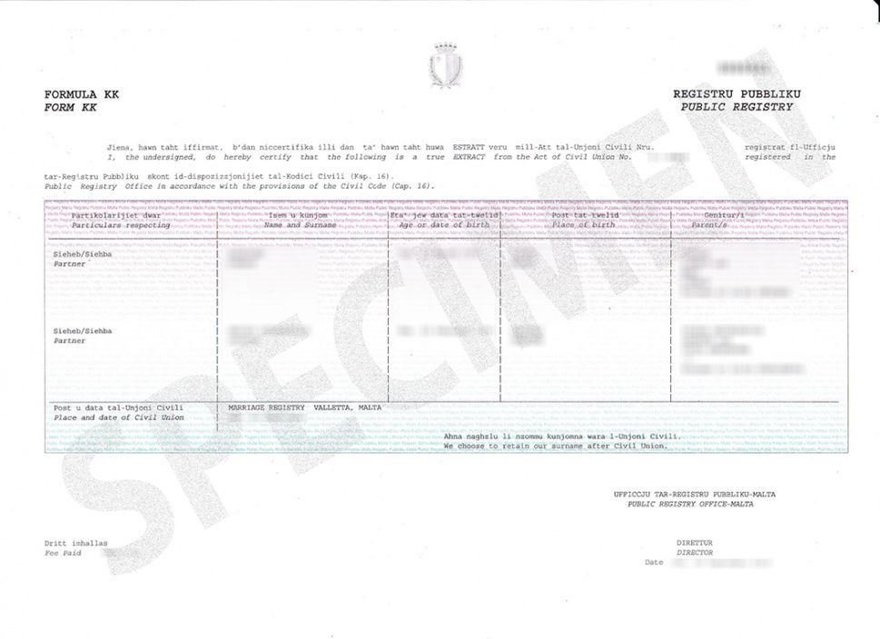 Explore Our Image of Civil Union Certificate Template