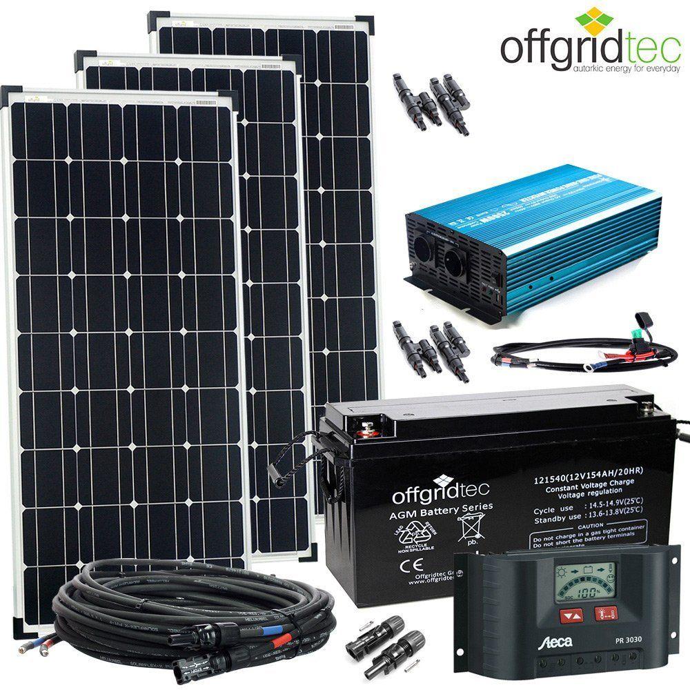 12v Solaranlage Autark Xl Master 300w Solar 1500wp Ac Amazon De Elektronik Solaranlage Solar Solaranlage Wohnmobil
