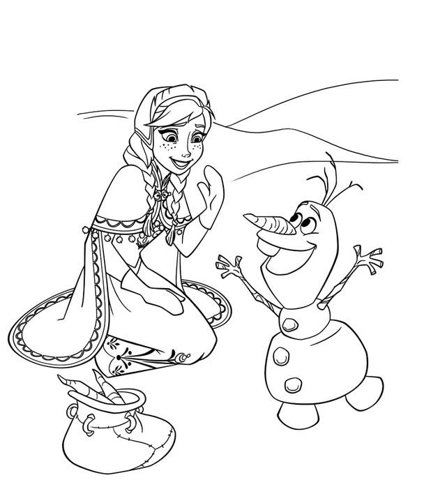 Frozen Olaf Coloring Page Simple