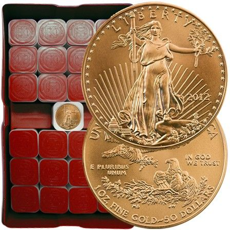 1 Oz American Gold Eagle Monster Box 500 X 1 Oz Gold