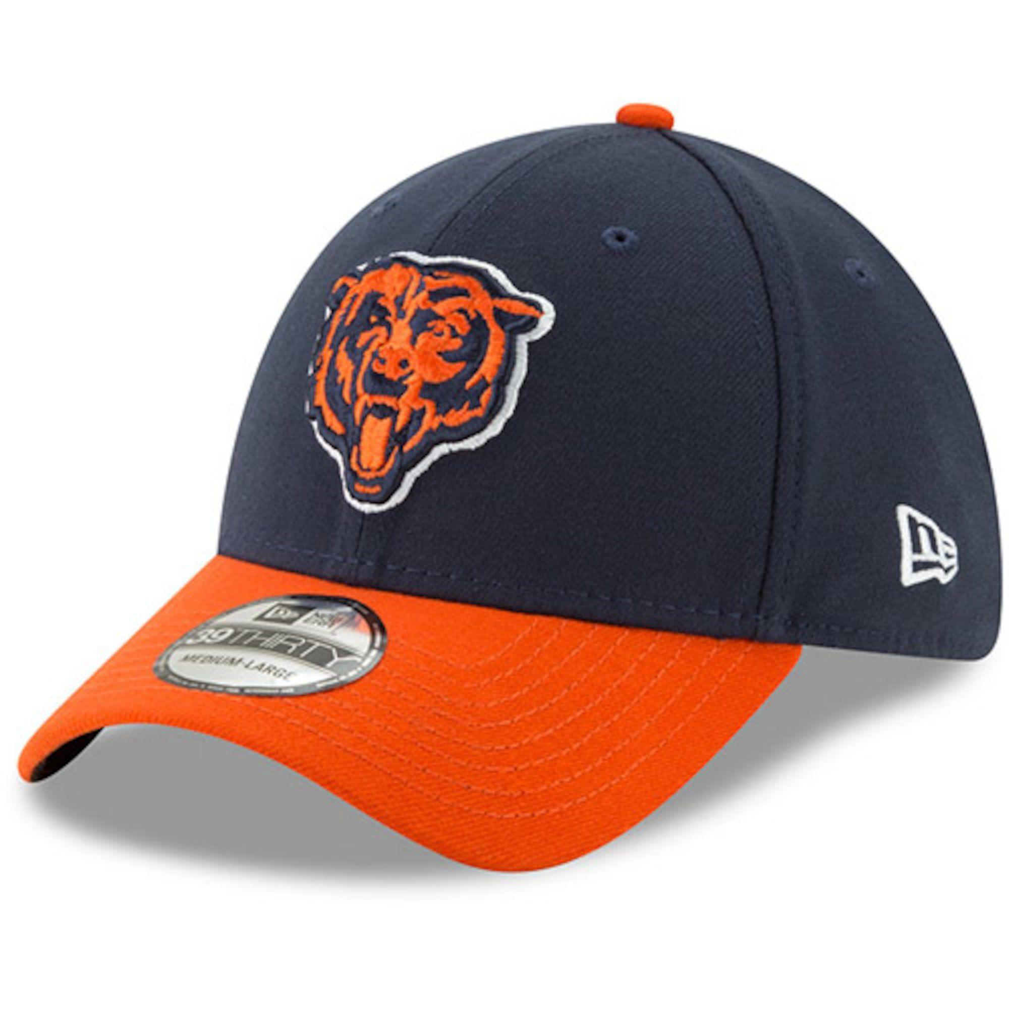 66d4b21ed9f Men s Chicago Bears New Era Navy Orange Team Classic Two-Tone 39THIRTY Flex  Hat