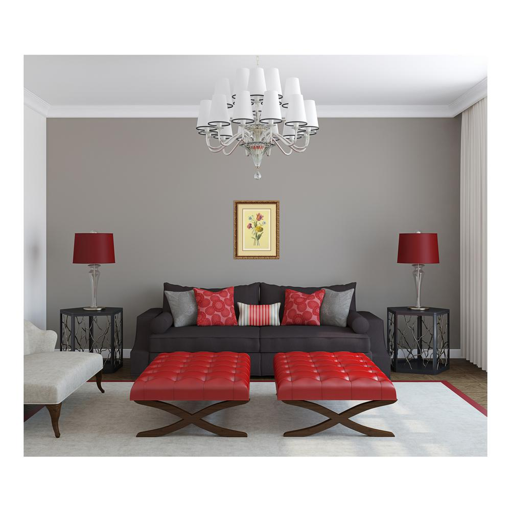 Superb Grey And Red Living Room
