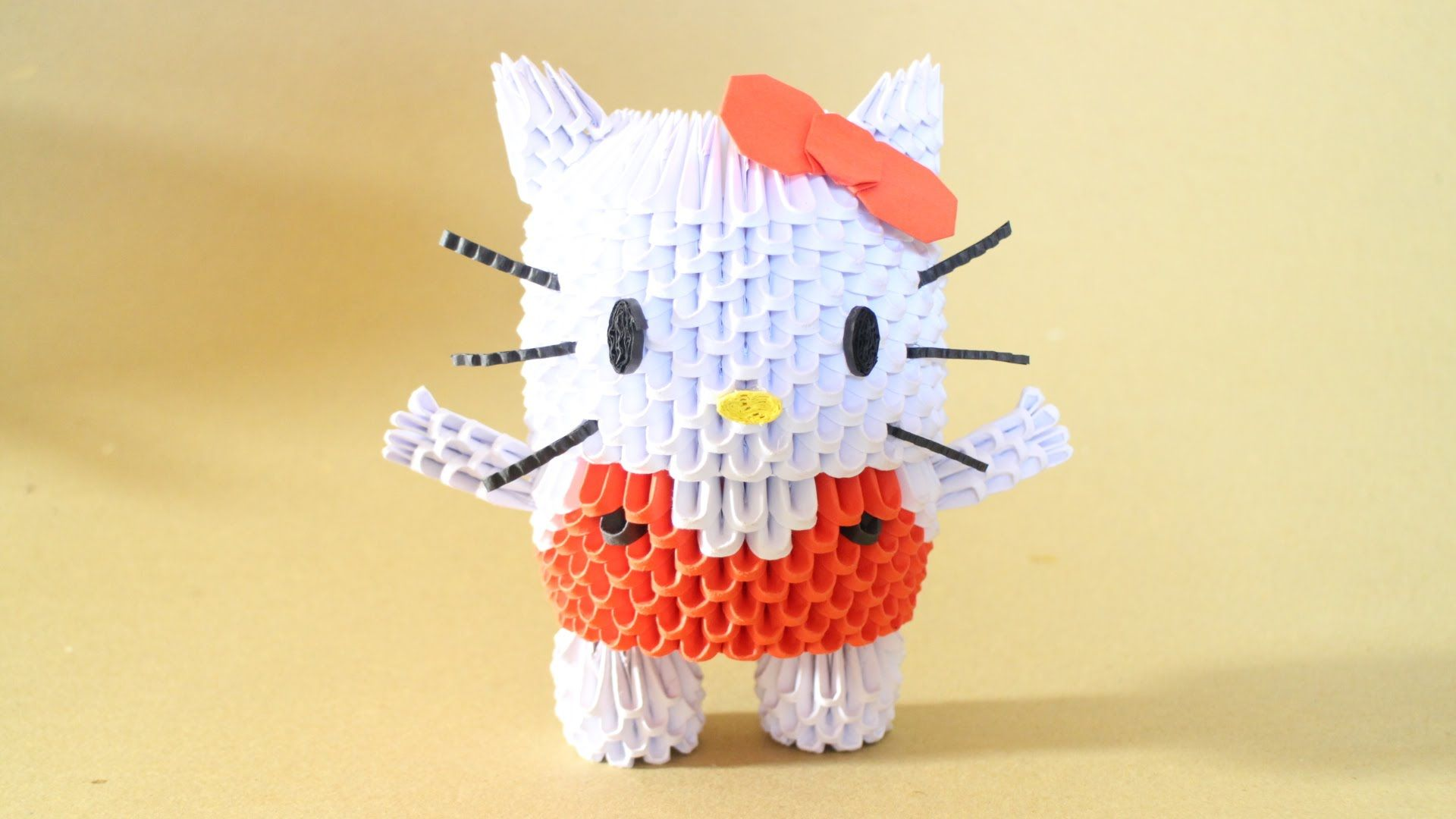 How to 3d origami hello kitty origami 3d pinterest 3d how to 3d origami hello kitty jeuxipadfo Images