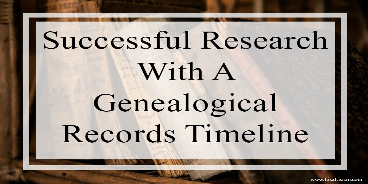 Successful Research With A Genealogical Records Timeline Timeline - last will and testament form