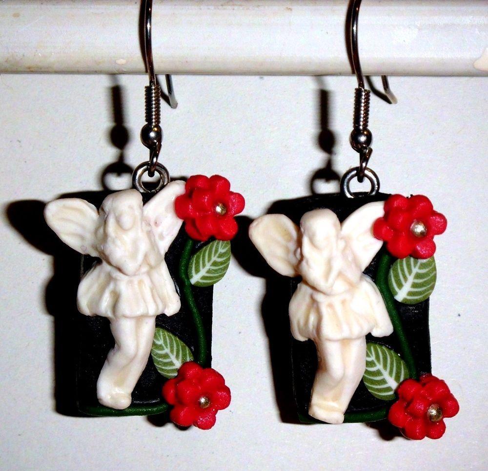Küchendesign rot und silber details zu ohrringe elfen blumen blüten fimo damen ohrschmuck