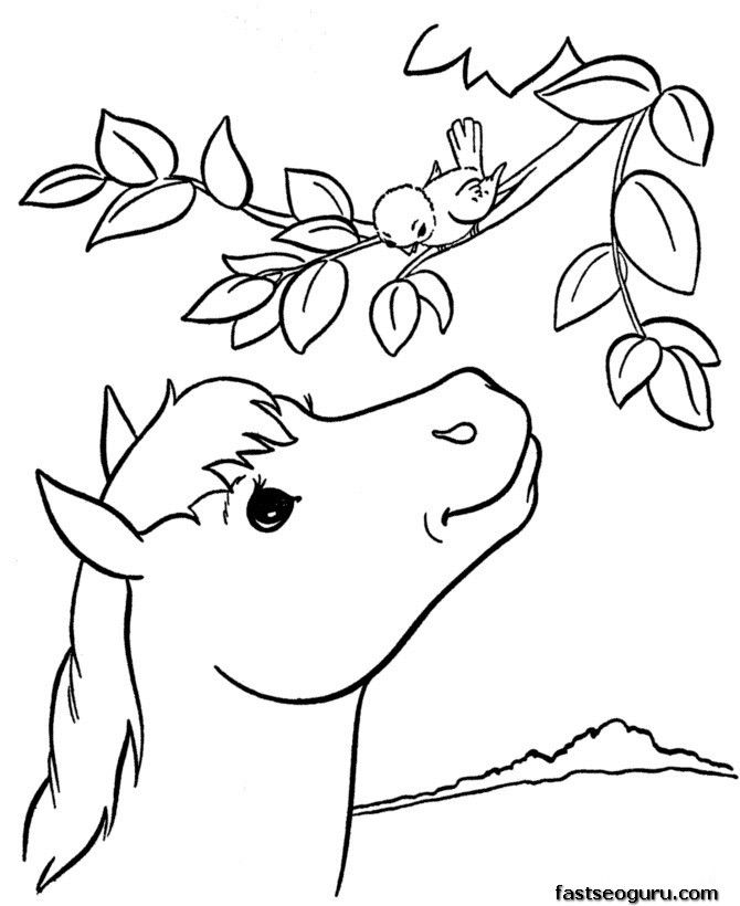 Animal Alphabet Coloring Page Pictures Best Thingkid Horse Coloring Books Animal Coloring Pages Horse Coloring Pages