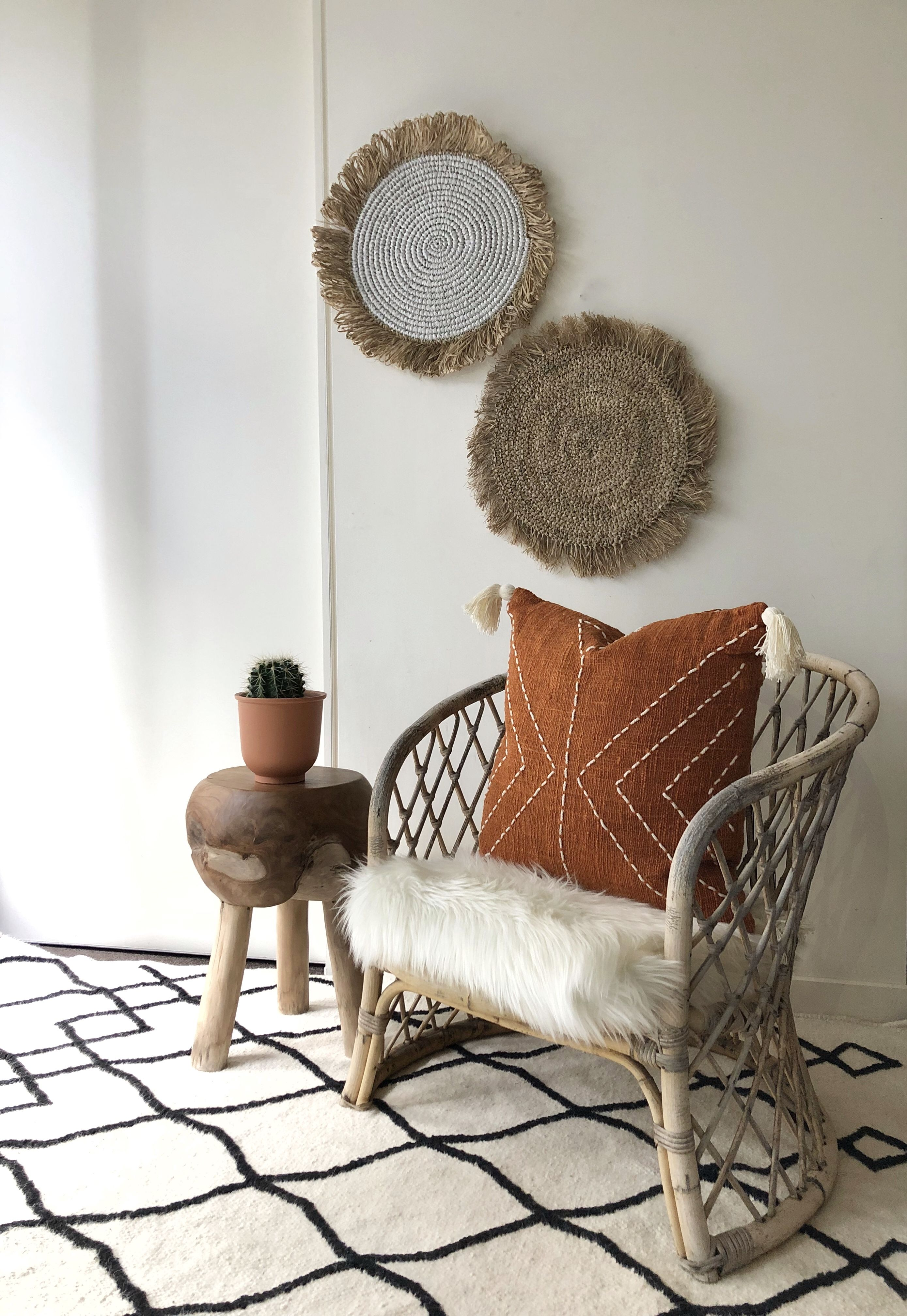 Burnt Orange Pillow With Tassels Organic Natural Raw Cotton Hand Dyed Rust Colour With Stitch Finish 50x50 20 Australia Cushions In 2020 Living Room Leather Swivel Chair Living Room Grey Chair Bedroom