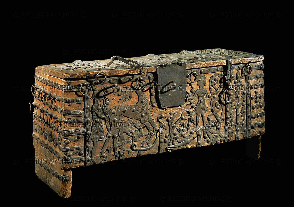 Romanesque Chest From Voxtorp, Smaland, Sweden.