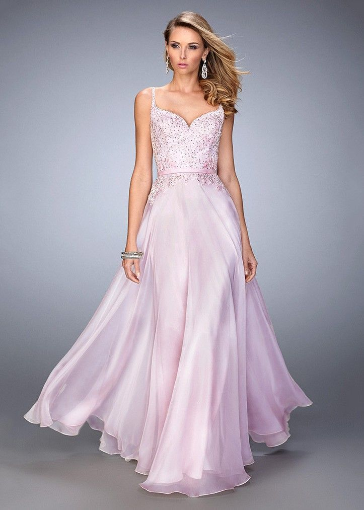 La Femme 21908 Lovely Lace Embellished Sweetheart Gown