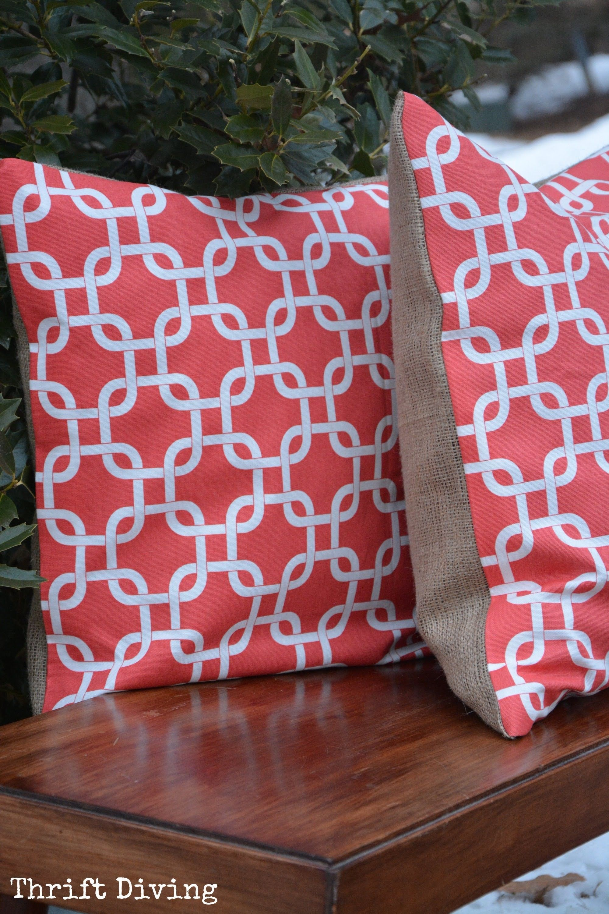 How to make a no sew pillow diy tutorial thrift diving sew