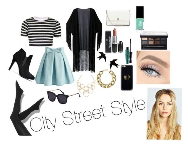 """City Street Style"" by thenightchnges on Polyvore featuring Topshop, Chicwish, Simply Vera, WithChic, Valextra, MAC Cosmetics, NARS Cosmetics, Jin Soon, Vera Bradley and Kenneth Jay Lane"